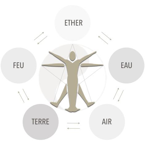 L'interdépendance des cinq éléments de la nature